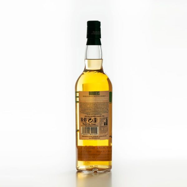 Borders 2nd Release; a highland single grain Scotch whisky bottle back