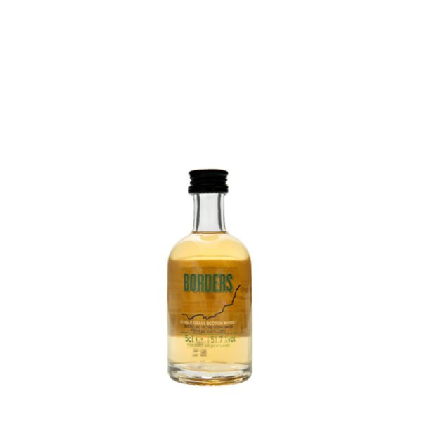 Borders; a highland single grain Scotch whisky miniature bottle