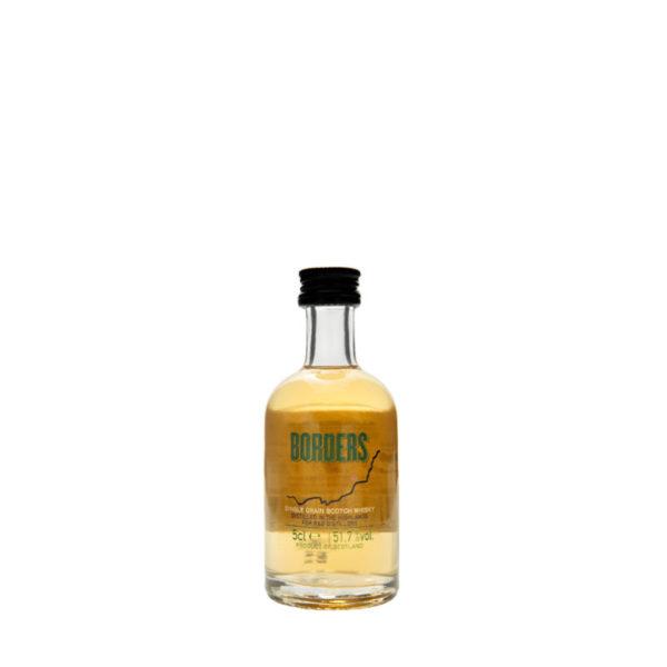 Borders; a highland single grain Scotch whisky miniature bottle
