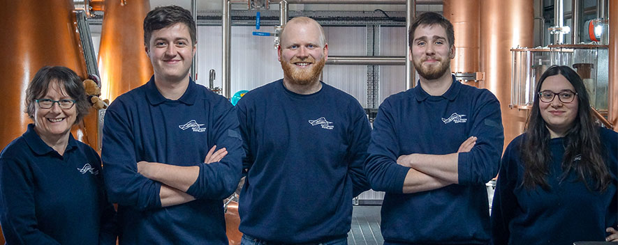 Raasay Distilleries Production Team