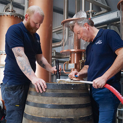 Raasay Distillery's First Whisky Cask
