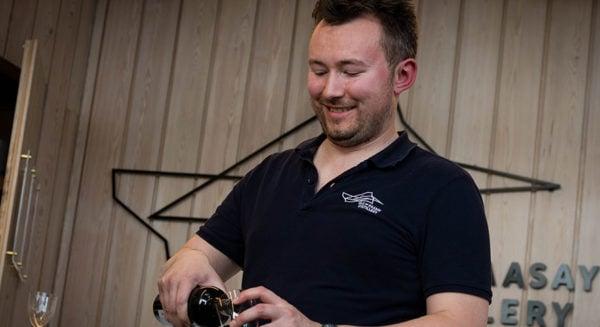 Chris Hoban Raasay Distillery Wine Tasting
