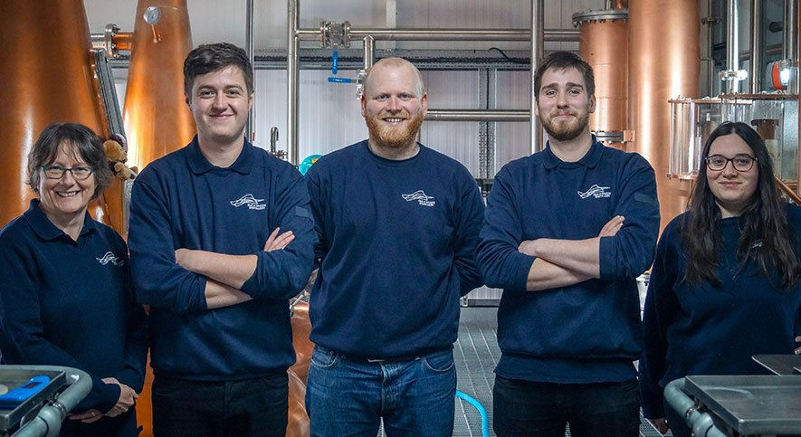 Raasay Distillery Production Team