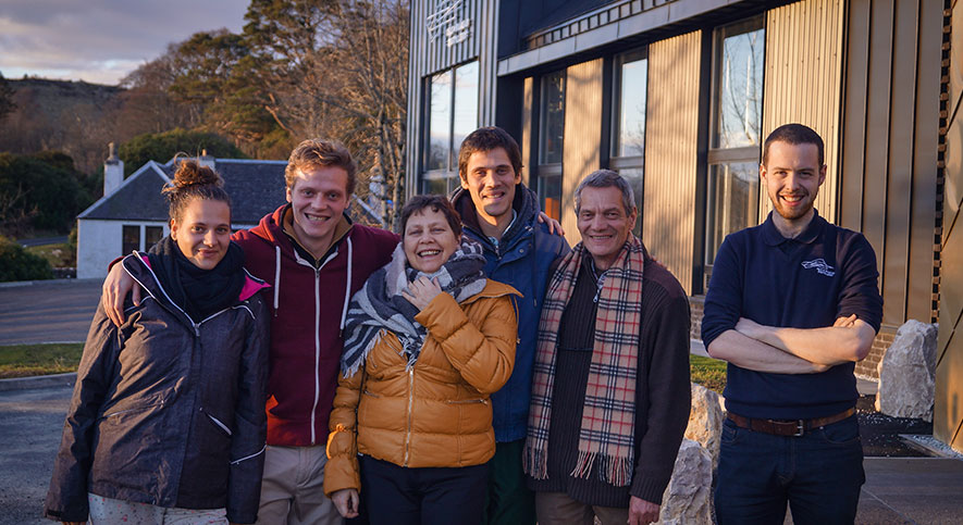 Visitors to Raasay Distillery