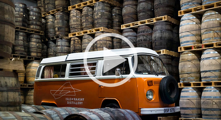 Raasay Distillery's VW Campervan