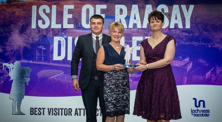 Best Visitor Attraction 2019 - Highlands and Islands Tourism Awards - Raasay Distillery