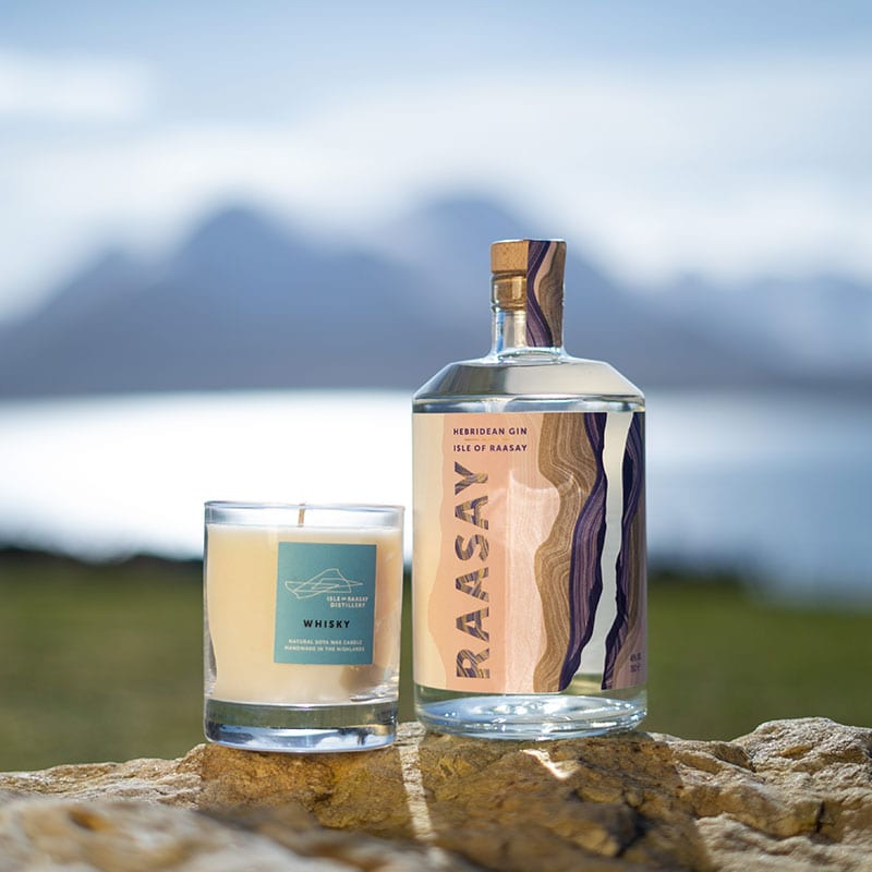Isle of Raasay Gin & Whisky Candle Gift