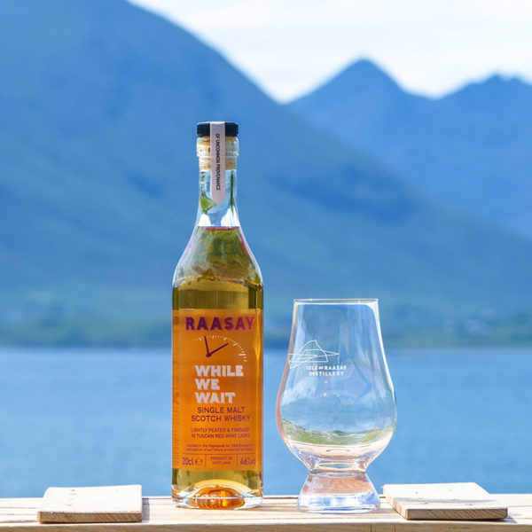 Raasay While We Wait (20cl) & Free Glencairn Whisky Glass