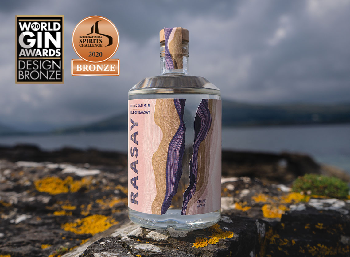 Isle of Raasay Gin Bottle