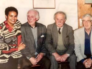 Jackie Kay, Norman MacCaig, Sorley MacLean, Edwin Morgan. c1989