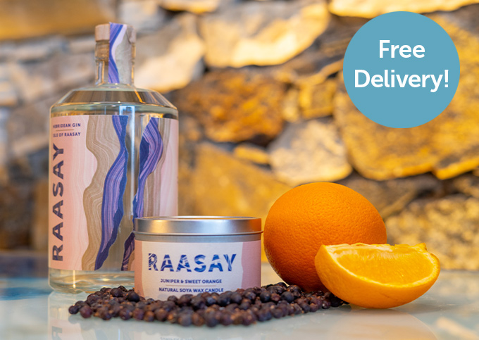 Isle of Raasay Gin (70cl) & Scented Gin Candle