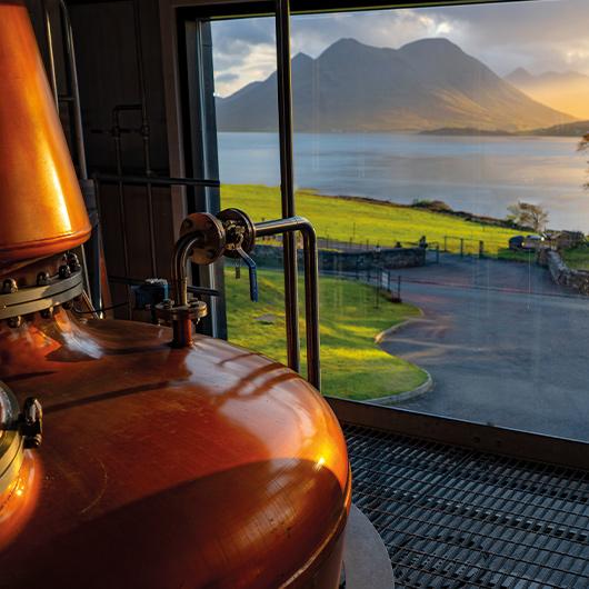 View of Skye from Raasay Distillery Stillhouse