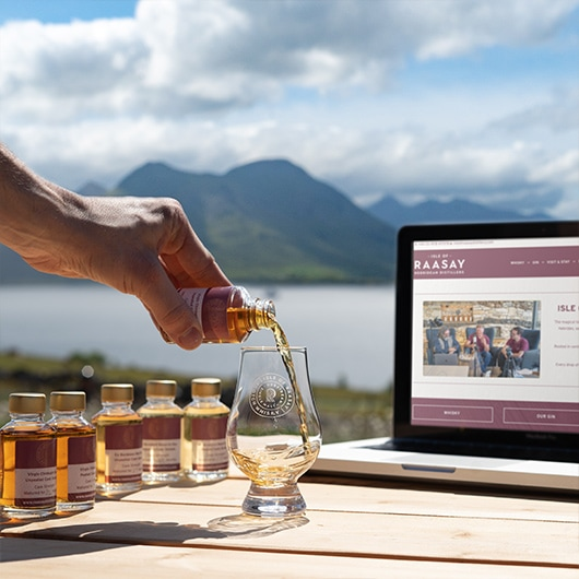 Isle of Raasay Virtual Tasting Product Image Pour
