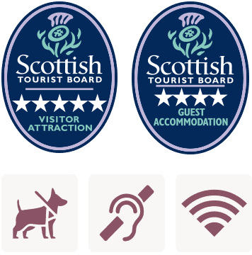 5 Star Visitor Centre, 4 Star Guest House, Guide Dogs Welcome, Hearing Loop, WiFi